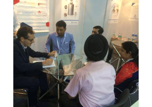 Le stand de la Division Emballage de Tournaire au dernier CPHI India: une large fréquentation pendant 3 jours
